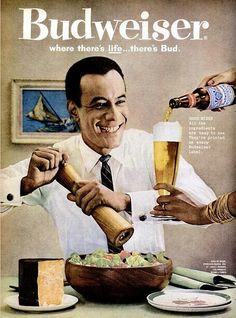 Budweiser Beer Advertisement - Ebony Magazine, April, 1960… | Flickr - Photo Sharing! Description from pinterest.com. I searched for this on bing.com/images
