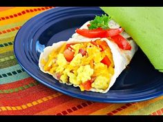 "Spice Up your breakfast with this ""Mexican Egg Wrap"" - easy, healthy & delicious! WATCH THE VIDEO!"