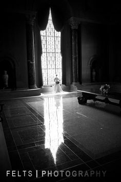 Bridal portrait taken in Armstrong Browning Library, #Baylor University