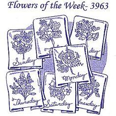 Aunt Martha 3963 - Flowers of the Week