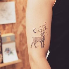 30 Tree-Themed Deer Tattoo Design For Love of Nature and Animals tattoo old school tattoo arm tattoo tattoo tattoos tattoo antebrazo arm sleeve tattoo Tree Tattoo Arm, Stag Tattoo, Tattoo Ink, Tiny Tree Tattoo, Birch Tree Tattoos, Tattoo Stars, Branch Tattoo, Tattoo Music, Raven Tattoo