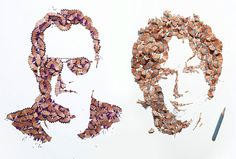 Pencil shaving portraits! A Brighton based designer Kyle Bean has created these unique pencil shaving portraits for contributors to the Wallpaper Handmade issue. (link)