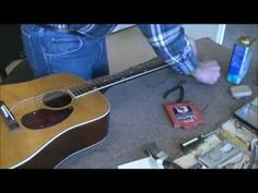 RSW Kay Guitar Top Crack Repair Part 2 - YouTube