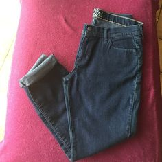 Jeans Flirt jeans-dark wash & a little spandex makes these jeans comfortable and slimming. Can be rolled for a Capri look! Worn once and in perfect condition The flirt Jeans Skinny