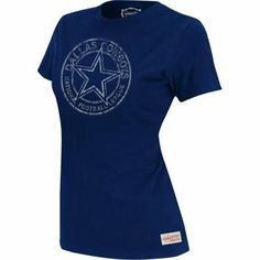 5980b0e6b Mitchell   Ness Dallas Cowboys Ladies Juniors Vintage Graphic Premium  T-Shirt - Navy Blue