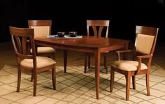 casual contemporary dining table 42 x 60 x 78 boat shape MSWB 4260-1 Lun