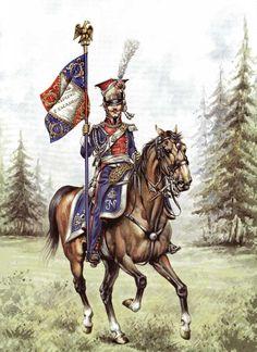 Porta stendardo dei lanceri polacchi della guardia imperiale francese