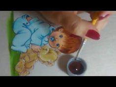 Dica:como fazer estampa em roupinha de bebe(moranguinhos) - YouTube