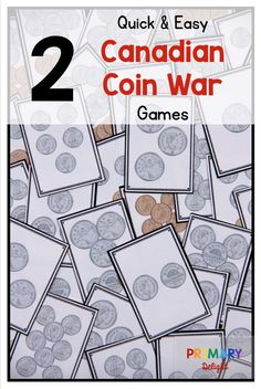 Teach students to count Canadian coins with these fun Canadian Coin War Games. Students can count money while having fun. The games are perfect for and grade students. Counting Money Games, Money Math Games, Money Games For Kids, Counting For Kids, Money Activities, Teaching Money, Teaching Time, Teaching Math, Preschool Kindergarten