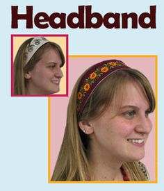 This reversible Headband will look great with your favorite summer outfit, or swim suit!