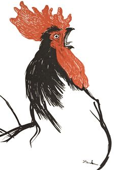 Vintage Rooster Illustration