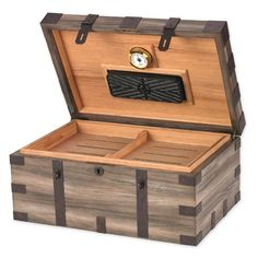 humidor  Looks like a pirate chest. I'd have to stash a well-sealed flask of rum in there, to go with the cigars.