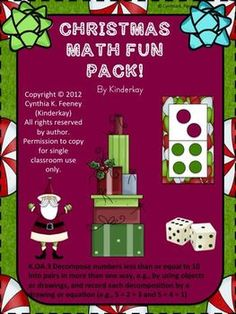 This is a fun Christmas game that can be used to practice beginning math concepts. There are 2 levels. In Level 1, students use Domino dot cards with number combinations from 1 - 6. Students pick a card, add the dots on the card, and cover the sum on their mat.