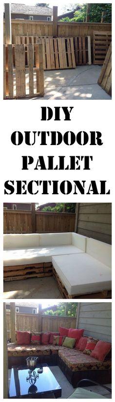 DIY an outdoor sectional from pallets. http://www.hometalk.com/l/cHG