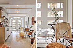 Keltainen talo rannalla: Valkoista, rustiikkia ja modernia