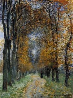 oilpaintinggallery:  Claude Monet, The Avenue...I have to repin this...Monet was such a talented artist, to say the least.