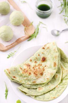 Tortillas vertes à la roquette