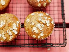 Jamie Oliver's Banana and Cinnamon Muffins with an oaty topping.  Just one question, Jamie:  what is muscovado sugar?  Packable
