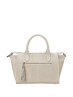 GiGi New York Personalized Grace Pebbled & Embossed Leather Satche