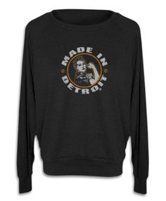 Rosie The Riveter - Women's - Long Sleeve Scoop Neck - Black    Tri-Blend (50% Polyester / 25% Cotton / 25% Rayon) construction