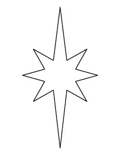 Elongated star pattern. Use the printable outline for crafts, creating stencils, scrapbooking, and more. Free PDF template to download and print at http://patternuniverse.com/download/elongated-star-pattern/
