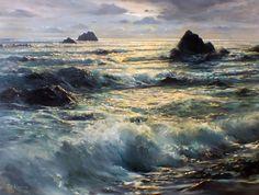 Golden Hour - (California Seascape) 1957 47x37 by Peter Ellenshaw