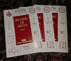SPEAKING OF DECOR Part 1 3 ICS SCHOOL INTERIOR DESIGN Paperbacks 1981