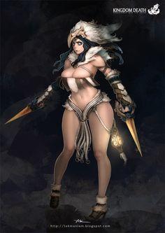 Kingdom Death-Lioness by lokmanlam.deviantart.com on @deviantART