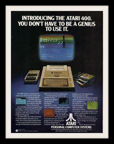 """1979 Atari 400 PC Computer Ad """"Genius"""""""