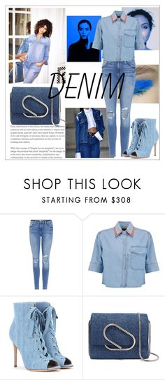 """""""Untitled #714"""" by neflaluna on Polyvore featuring Frame, Être Cécile, Gianvito Rossi, 3.1 Phillip Lim and alldenim"""