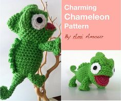 Charming Chameleon Pattern Amigurumi Crochet PDF by amiamour, $5.00