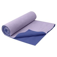 A must-have accessory for your yoga mat— a Gaiam no-slip, absorbent towel.
