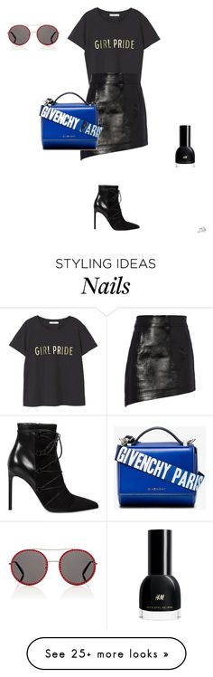 """""""Untitled #93"""" by apwbd on Polyvore featuring MANGO, Helmut Lang, Yves Saint Laurent, Givenchy, Gucci, womensHistoryMonth, pressforprogress and GirlPride"""