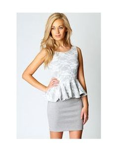 Elizabeth Lace Top Peplum Dress.  This gorgeous and feminine peplum dress arrived in the office today.  We LOVE it!  AU$38