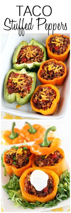 Baked Taco Stuffed Peppers