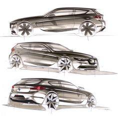 Bmw Sketch, Car Design Sketch, Car Side View, 135i, Custom Car Interior, Industrial Design Sketch, Car Illustration, Car Drawings, Cute Cars