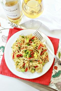 Smoked Salmon, Avocado, Lemon and Dill Linguine | Simply Fresh Dinners