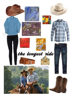 """the longest ride...."" by savvybeauchene on Polyvore featuring Bailey Western, Stetson, Hollister Co., Waterman, J Brand and H&M"