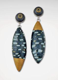 Blue Pod Earrings by Loretta Lam (Polymer Clay Earrings) | Artful Home