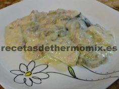 Pechugas con salsa de nata para Thermomix