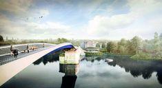 Passerella pedonale - Città di POISSY Paris Seine, France 4, Grand Paris, Bridge Design, Oise, Construction, Architecture, Projects, Bridges