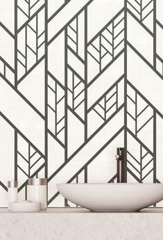 Modern Art Wallpaper Grid, Modern Art, Bathtub, Industrial, Abstract, Wallpaper, Standing Bath, Summary, Bathtubs
