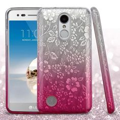 Insten Flowers Hard Snap-on Dual Layer Hybrid Case Cover For LG Aristo/ Fortune/ K4