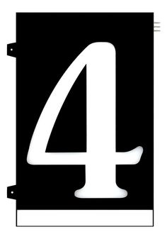 Homidea Backlit LED House Number 4 Led House Numbers, Turn Light, Overhead Lighting, Emergency Response, Family Outing, House Entrance, Day For Night, Home Projects, Diy Home Decor