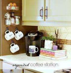 Hi Sugarplum | Organized Coffee Station by hi sugarplum!, via Flickr