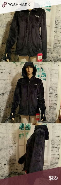 NWT Women's North Face Osito Hoodie MED SO Plush! Very lux!! Inside and out. Brand new with tags. Gorgeous very dark deep green. Very hard to show color well in pics. Beautiful and lush! Has thumb holes also as well as great warm hood.  :) will ship fast! The North Face Jackets & Coats