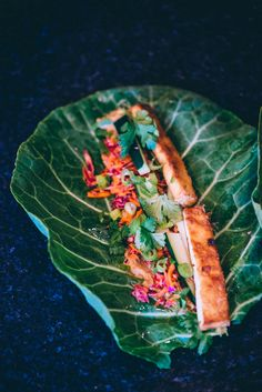 Tofu Banh Mi Collard Wraps Food Fitness Fresh Air
