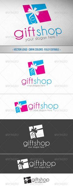 Gift Shop  - Logo Design Template Vector #logotype Download it here: http://graphicriver.net/item/gift-shop-logo/5054359?s_rank=321?ref=nesto