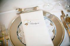 DIY borddekorasjoner/tablecards - from my wedding day