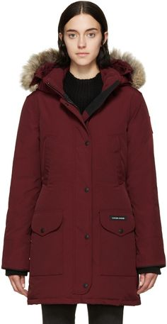 Black feather down 'Victoria' parka coat from Canada Goose ...